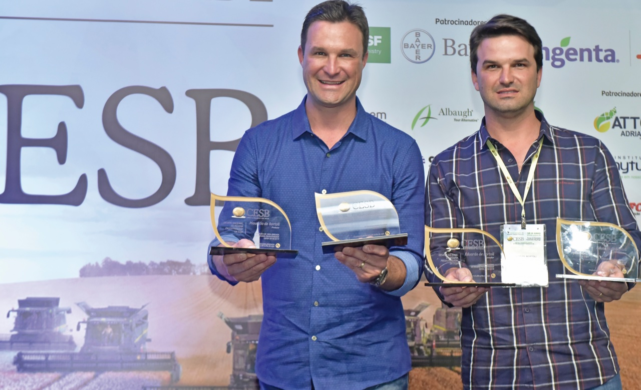 Champion farmer brothers, Mauricio and Eduardo De Bortolli, farm over 10,000 hectares in Brazil, and use Polysulphate to help achieve their record yields.