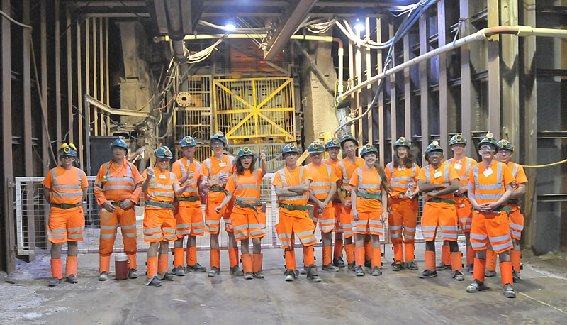 A group of international analysts and specialist investors visit the ICL Polyhalite mine at Boulby, UK, which produces Polysulphate fertilizer